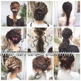 ポニーテール ロング ヘアアレンジ 波ウェーブ ヘアスタイルや髪型の写真・画像