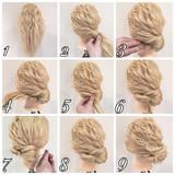 ゆるふわ ヘアアレンジ ロング 波ウェーブ ヘアスタイルや髪型の写真・画像