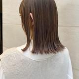 外ハネボブ フェミニン 鎖骨ミディアム ミディアム ヘアスタイルや髪型の写真・画像