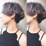 ラベンダーアッシュ ストリート ショート グレージュ ヘアスタイルや髪型の写真・画像