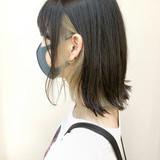 外ハネボブ ストリート 外ハネ 切りっぱなしボブ ヘアスタイルや髪型の写真・画像