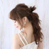 結婚式 ロング 夏 デートヘアスタイルや髪型の写真・画像