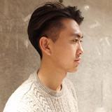 メンズ 刈り上げ ショート ツーブロック ヘアスタイルや髪型の写真・画像 | 刈り上げ・2ブロック専門美容師 ヤマモトカズヒコ / MEN'S GROOMING SALON AOYAMA by kakimoto arms
