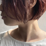 ボブ ラベンダーピンク 大人グラボブ ピンクラベンダー ヘアスタイルや髪型の写真・画像