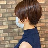 透明感 大人ショート イルミナカラー ショートヘア ヘアスタイルや髪型の写真・画像