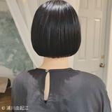 ゆるふわ デート 黒髪ショート 艶髪 ヘアスタイルや髪型の写真・画像