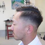 ナチュラル ショート スキンフェード ヘアスタイルや髪型の写真・画像