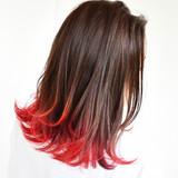 グラデーションカラー グレージュ ストリート ミディアム ヘアスタイルや髪型の写真・画像 | 角谷 洋之 / AMAN D'OR【アマンドール】名古屋駅徒歩5分