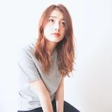 ウルフカット モード 3Dハイライト オレンジカラー ヘアスタイルや髪型の写真・画像[エリア]