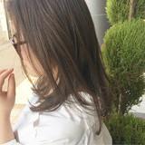 大人女子 アッシュグレージュ ナチュラル リラックス ヘアスタイルや髪型の写真・画像