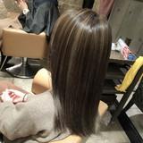 ストリート セミロング ハイライト 外国人風 ヘアスタイルや髪型の写真・画像