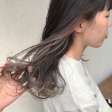 アッシュグレージュ ナチュラル インナーカラーグレージュ インナーカラー ヘアスタイルや髪型の写真・画像 | 杉本あさか asa / buzz北堀江