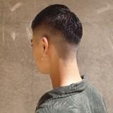 ストリート メンズショート 刈り上げ ツーブロック ヘアスタイルや髪型の写真・画像 | 刈り上げ・2ブロック専門美容師 ヤマモトカズヒコ / MEN'S GROOMING SALON AOYAMA by kakimoto arms