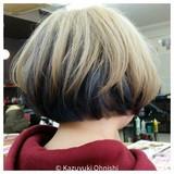 ハイトーン モード ショートボブ ボブ ヘアスタイルや髪型の写真・画像