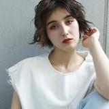 透明感 リラックス ショート 夏 ヘアスタイルや髪型の写真・画像[エリア]
