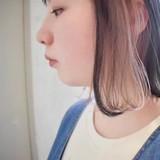 ミルクティーベージュ グレージュ インナーカラー ボブ ヘアスタイルや髪型の写真・画像