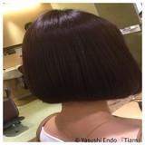 ナチュラル可愛い ボブ 大人ヘアスタイル まとまるボブ ヘアスタイルや髪型の写真・画像 | Yasushi Endo 『Tiam』 / Tiam Hair 弘明寺