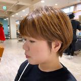 ナチュラル ショートヘア 大人かわいい ショートボブ ヘアスタイルや髪型の写真・画像