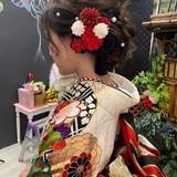 セミロング ヘアアレンジ ふわふわヘアアレンジ ヘアセットヘアスタイルや髪型の写真・画像