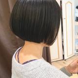 インナーカラー ナチュラル ボブ ショートヘア ヘアスタイルや髪型の写真・画像