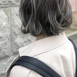 外国人風 ナチュラル グラデーションカラー ボブ ヘアスタイルや髪型の写真・画像