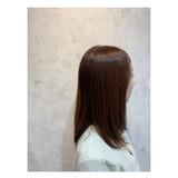艶髪 トリートメント ストレート セミロング ヘアスタイルや髪型の写真・画像 | 角谷 崇 / hair  Cou Cou