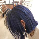 ハイライト ボブ ナチュラル インナーカラー ヘアスタイルや髪型の写真・画像[エリア]