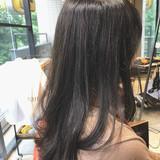 透明感カラー ラベージュ ナチュラル セミロングヘアスタイルや髪型の写真・画像