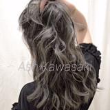 ストリート アッシュグレー シルバーグレー グレージュ ヘアスタイルや髪型の写真・画像