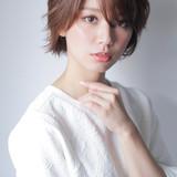アンニュイほつれヘア デート パーマ ショート ヘアスタイルや髪型の写真・画像