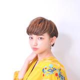 ミニボブ ショート ナチュラル ショートボブヘアスタイルや髪型の写真・画像