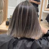 外国人風 バレイヤージュ 外国人風カラー ボブ ヘアスタイルや髪型の写真・画像