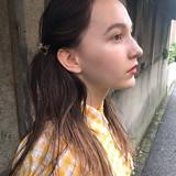 ガーリー ヘアアレンジ 抜け感 ロング ヘアスタイルや髪型の写真・画像[エリア]