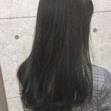 暗髪 ロング マット グレージュ ヘアスタイルや髪型の写真・画像