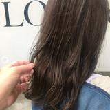 ナチュラル セミロング インナーカラー 切りっぱなしボブ ヘアスタイルや髪型の写真・画像