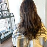 ロング ハイライト 外国人風 透明感カラー ヘアスタイルや髪型の写真・画像
