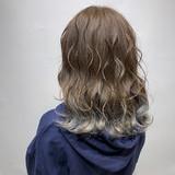 ストリート グラデーションカラー アッシュ 透明感カラー ヘアスタイルや髪型の写真・画像