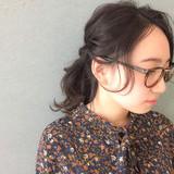 編み込み エレガント 大人女子 ミディアム ヘアスタイルや髪型の写真・画像