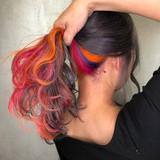 カラフルカラー ユニコーンカラー インナーカラー ストリート ヘアスタイルや髪型の写真・画像