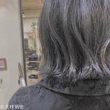 ブルージュ 透明感カラー ボブ グレージュ ヘアスタイルや髪型の写真・画像