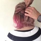 ミディアム ガーリー アウトドア ヘアアレンジ ヘアスタイルや髪型の写真・画像[エリア]