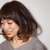 フェミニン ミディアム 前髪あり ストリート ヘアスタイルや髪型の写真・画像