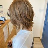 レイヤーカット ウルフカット ナチュラルウルフ ガーリー ヘアスタイルや髪型の写真・画像