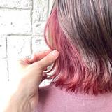 ミディアム ガーリー ピンクベージュ ピンク ヘアスタイルや髪型の写真・画像[エリア]