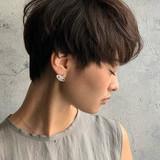 前髪あり マッシュショート ナチュラル ショートヘア ヘアスタイルや髪型の写真・画像