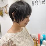 ショート ミニボブ ナチュラル ショートボブ ヘアスタイルや髪型の写真・画像
