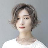 ハイトーン ショートボブ ショートヘア ショート ヘアスタイルや髪型の写真・画像