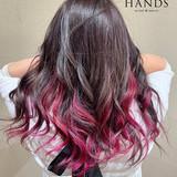 フェミニン グラデーションカラー ロング バレイヤージュ ヘアスタイルや髪型の写真・画像