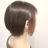 ベージュ インナーカラー ショート ミニボブヘアスタイルや髪型の写真・画像