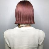 ハイトーン ボブ ピンク ヘアカラー ヘアスタイルや髪型の写真・画像 | chel / Real me 上通